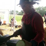 Sue cooking up a storm at the Permaculture Gathering