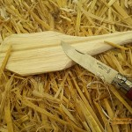 Workshop on wooden spoon carving at the Permaculture Gathering