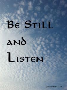 Be Still Morning Practice by paleoirish.com