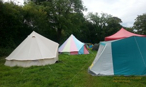 Beautiful Bell Tents at the Permaculture Gathering