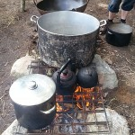 Some really big pots and pans at the Permaculture Gathering